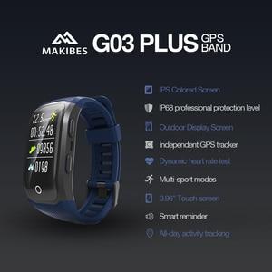 Image 2 - Livre shippingG03 Plus Tela Colorida Pulseira IP68 Rastreador GPS À Prova D Água Dos Homens De Fitness Banda Inteligente pulseira relógios para Android ios