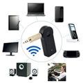 Universal 3.5mm de Transmisión Del Coche AUX Audio Música Adaptador Del Receptor A2DP para auriculares Inalámbricos Bluetooth Kit de Coche Manos Libres con Micrófono Para El Teléfono MP3