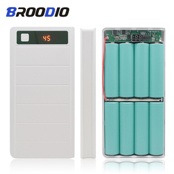 Portable 5V Dual USB 8*18650 Power Bank Battery Box Mobile Phone Charger DIY Shell Case Type-C Micro USB Charging Box For Xiaomi