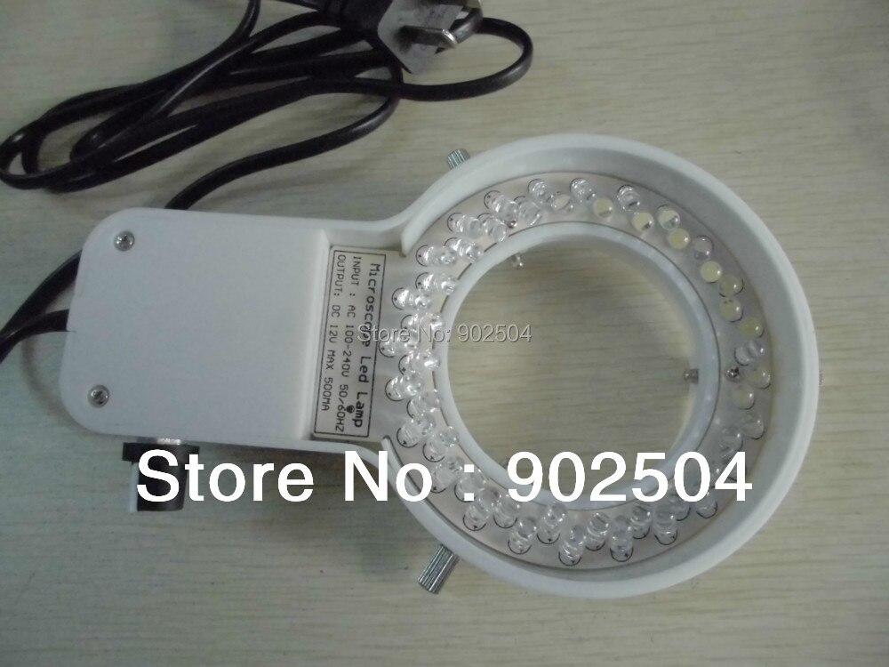ФОТО 40 LED Light White Brightness Adjustable Microscope LED Lamp Ring Light for Stereo Microscope with 60mm Inner Diameter