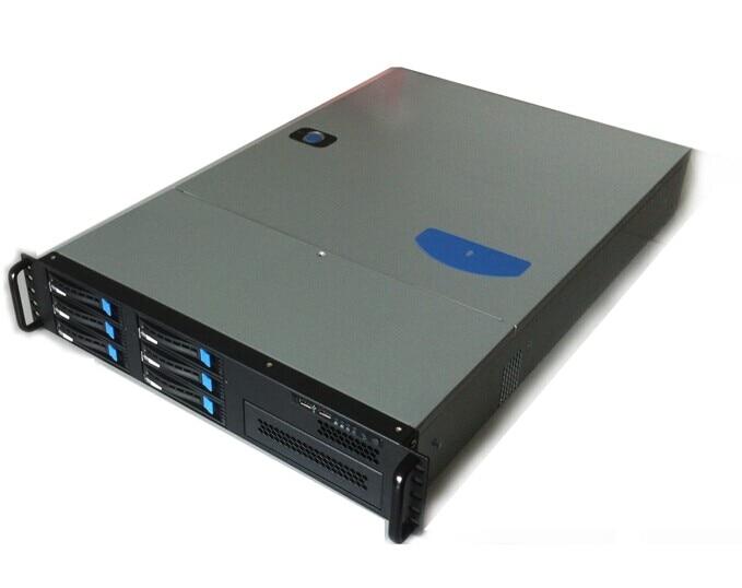 New 2UGX2006 hot plug 6 disk server box industrial control storage box hot SATA3 backplane 2u hot plug in chassis 2u 9 disk hot swap server sata sas hd storage cabinet