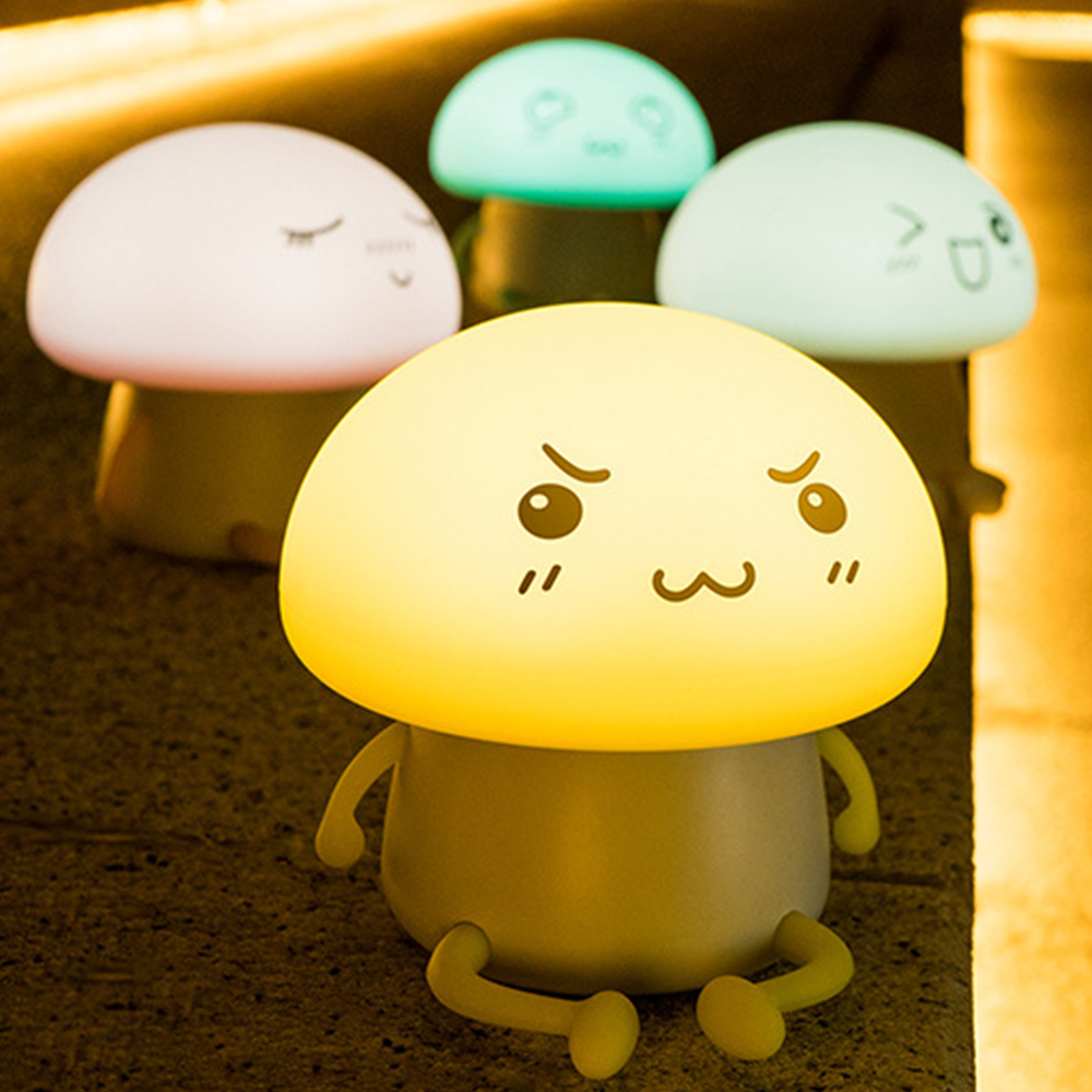 LED Night Light Q Kid LED Night Lamp Built-in 1200mAh Battery Children Pat Lamp and Home ...