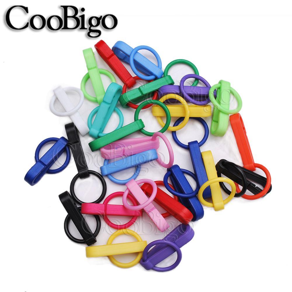 100 шт Упаковка Пластиковые Красочные защелки крюк перчатки пряжки-Крючки с уплотнительным кольцом звено цепи вешалка сумка Запчасти Аксессуары# FLC078(Mix-s - Цвет: Mixed Colors sent