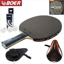 Brand Quality Table tennis racket Ddouble face Pimples-in blue rubber Ping Pong Racket tenis de mesa(China)