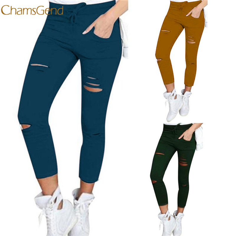 Chamsgend Pencil hole jeans Trousers plus size 3XL 4XL jeans Women jeans 2017 Cotton Blend Elastic Trouser Slim Skinny jeans 77# elastic jeans women brand new plus size 3 4 5 6 xl casual slim skinny classic denim pencil pants trousers blue lej11