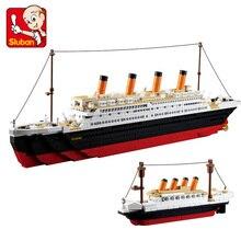 Sluban новые 1021 шт B0577 строительные блоки игрушка Круизный корабль Rms корабль «Титаник» Лодка 3d модели развивающие подарок игрушки Brinquedos Diy