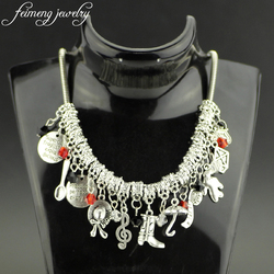 feimeng jewelry Mary Poppins Choker Necklace Practically Perfect In Every Way Hat Umbrella Shoes Pendant Necklace For Women