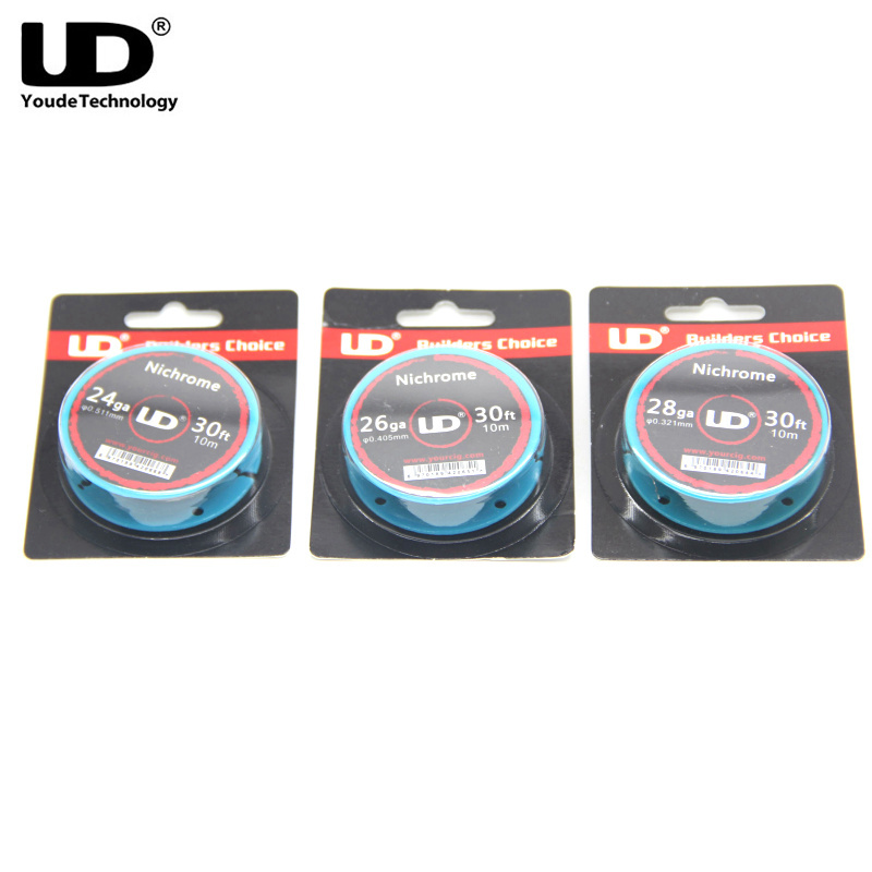 Original Ni80 Heating Wire Youde Nichrome Wire 30ft 10m/roll 24ga 26ga 28ga  For RDA RBA AtomizerOriginal Ni80 Heating Wire Youde Nichrome Wire 30ft 10m/roll 24ga 26ga 28ga  For RDA RBA Atomizer