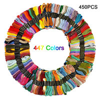 450pcs/447 Colors Similar DMC Cross Stitch Floss DIY Sewing Skeins Embroidery Thread Floss Kit Sewing Tools
