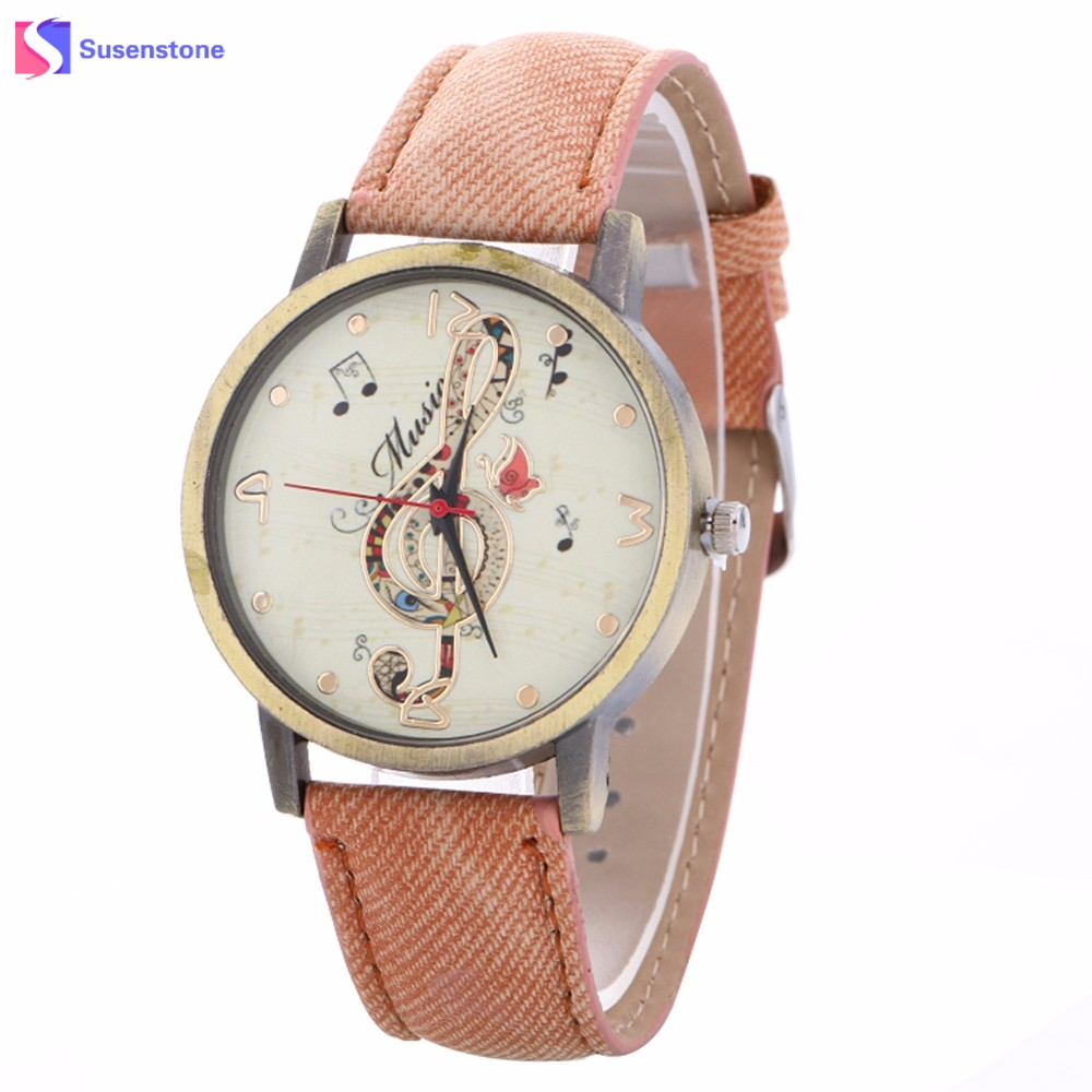 2018 Fashion Women Musical Note Pattern Analog Clock Quartz Watch Leather Band Table Ladies Casual Female Dress Watches hot sale women analog quartz watch dream catcher fashion leather band table wristwatch female ladies clock relogio feminino