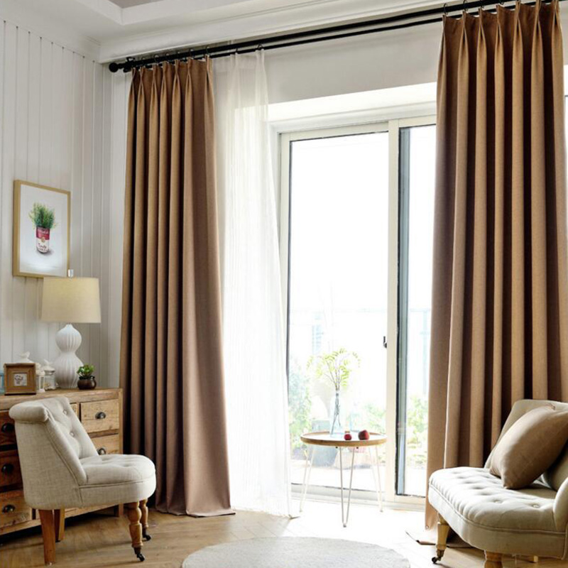 Top Finel 2016 Solid Twill Window Curtains Thick Blackout Curtains for Living Room the Bedroom Window Shades Window Treatment