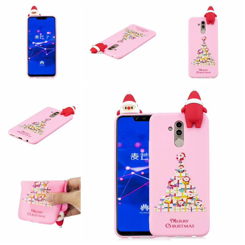 3D Toys Christmas Case For Huawei Mate 10 Pro Cover For Huawei Mate 20 Lite Coque Soft TPU Silicon Cartoon Phone Cases