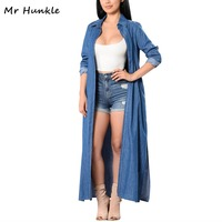 Mr Hunkle 2017 Fashion Autumn Women S Jean Blouse Casual Open Stitch Woman S Cardigan Solid