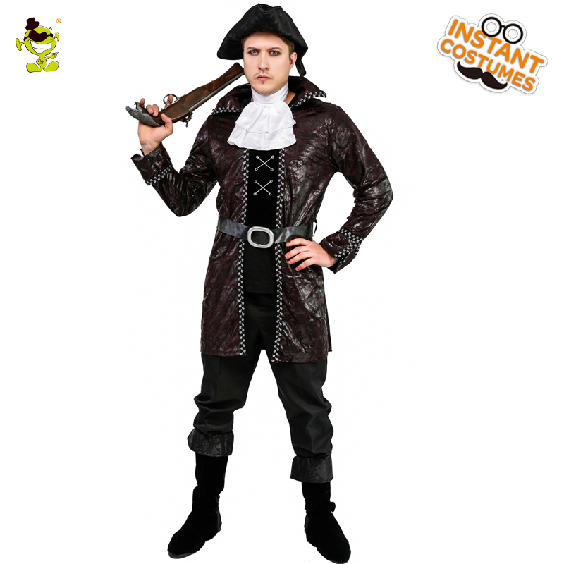 Adult Men s Pirate Costume Role Play Halloween Party Imitation Cool Black Pirate Suits Party Costumes