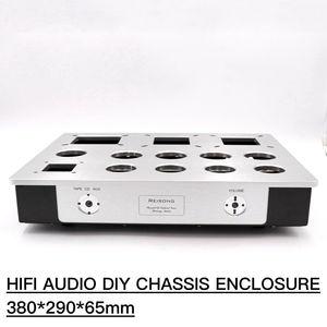 Image 2 - 1PC AMPLIFIER แชสซีอลูมิเนียม 300B KT88 2A3 สูญญากาศ Vintage เสียง Enclosure กรณี DIY