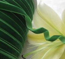 """Nueva! fantasía 3/8 """" Velet cinta de color verde del banquete de boda de la muñeca apliques de costura 10Y R0008"""