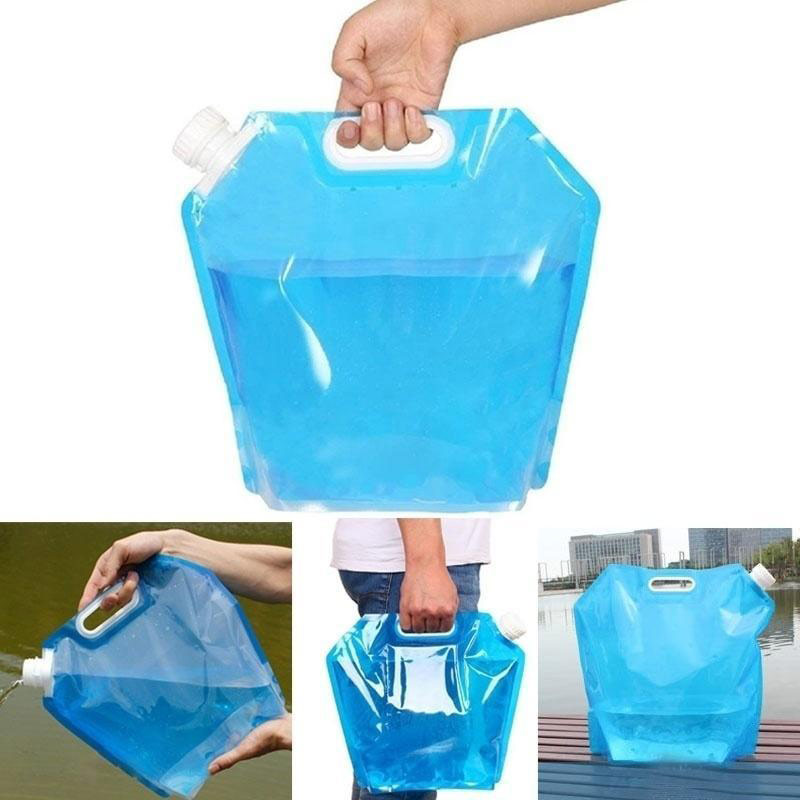 Camping Hiking Picnic 5//10L Folding Drinking Water Container Storage Lifting Bag
