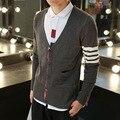 Мужская воспитать в себе мораль показать тонкие ТБ однобортный кардиган свитер новый зимнее пальто кнопки тонкий свитер футболки