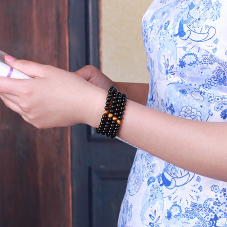Bijou Mala Oeil de Tigre avec 108 perles