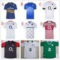 Venda quente multi-Tipos de Alta Qualidade para Crianças de manga curta Completa sublimation Rugby jerseys 6yr/8YR/10YR/12YR/14YR 9 TIPO