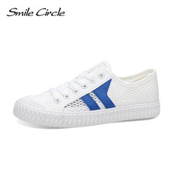 Smile circle 2017 summer style women shoes fashion hollow canvas shoes women lace up white casual.jpg 250x250