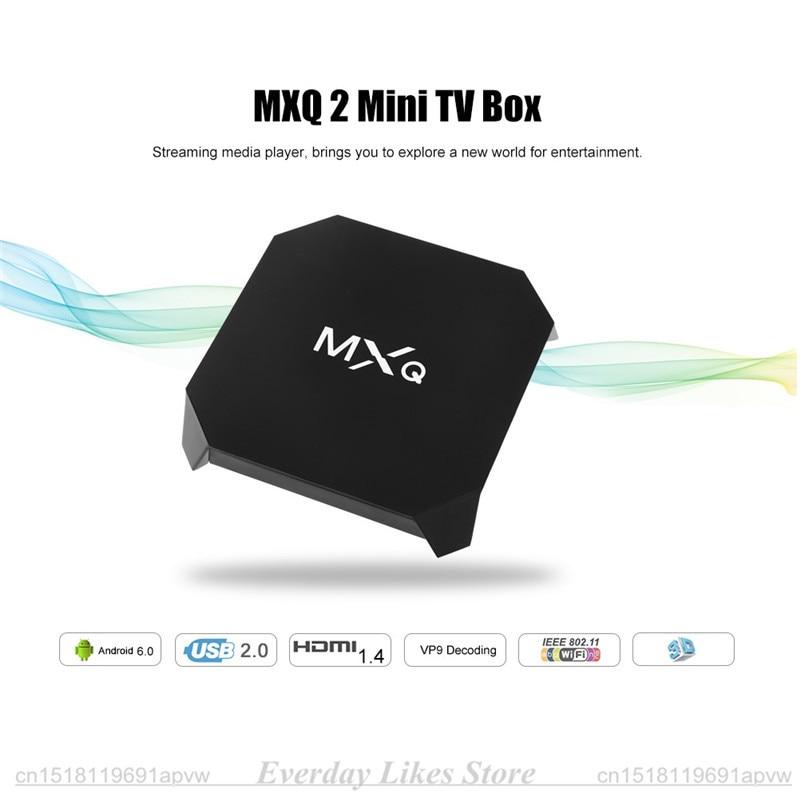 MXQ 2 Mini TV Box 1G RAM 8G ROM Android 6.0 Amlogic S905X Quad-core 2.4 GHz WiFi