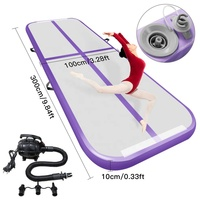 Free Pump ! New Purple Color Inflatable Gym Mat 3m*1m*0.1m Tumbling Track For Gym DWF Air Floor Air Mat For Kids And Adults