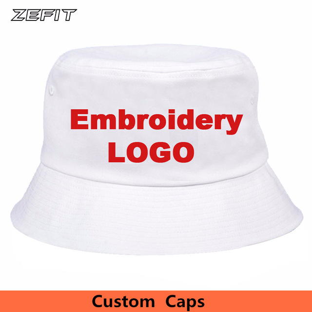 787a0ffd411 Custom Bucket Hats Small Order 10pcs OEM Embroidered Printed Logo 100%  Cotton Good Quality Hat
