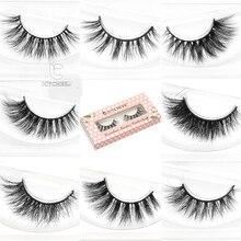 10498fa544d ICYCHEER Eyelashes 3D Mink Lashes Thick HandMade Full Strip Lashes False  Eyelashes