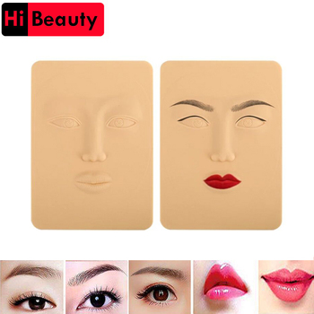 3D Silicone Permanent Makeup Tattoo Training Practice Fake False Skin Face For Microblading Tattoo Machine Beginner