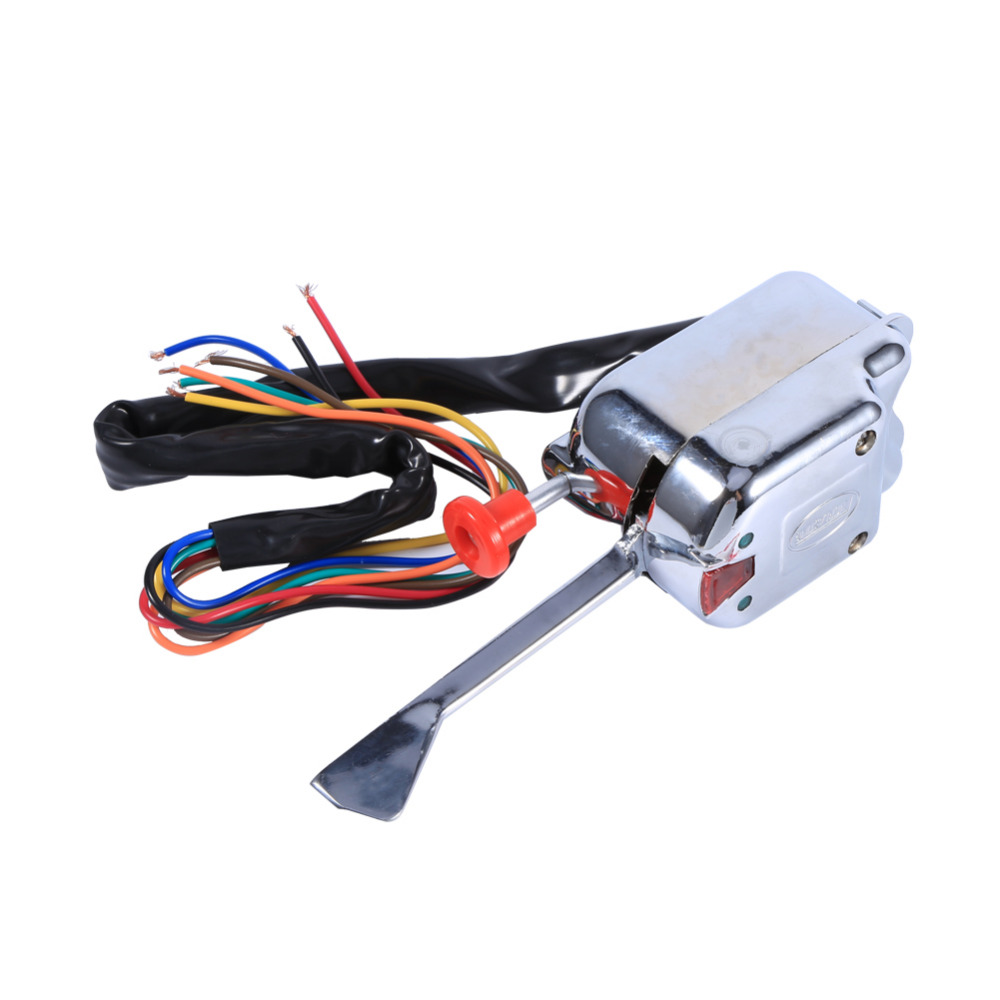 Universal Turn Signal Switch Street Hot Rod Chrome For Ford 12V