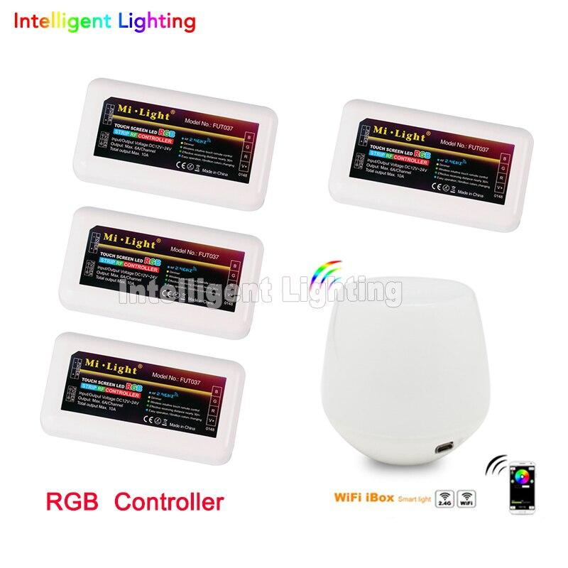 2.4g 4 pièces led contrôleur RGB + 2.4g wifi box