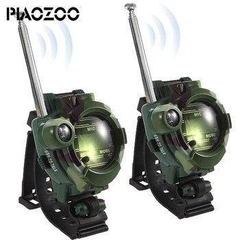 7 в 1 часы с рацией 2 шт. игровой гаджет трансформатор часы для детский домик беспроводное радиоустройство интерактивная игрушка для kinderen P20