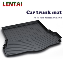 EALEN 1PC Car rear trunk Cargo mat For Ford Mondeo 2012 2013 2014 2015 2016 2017 2018 Boot Liner Tray Anti-slip Mat accessories