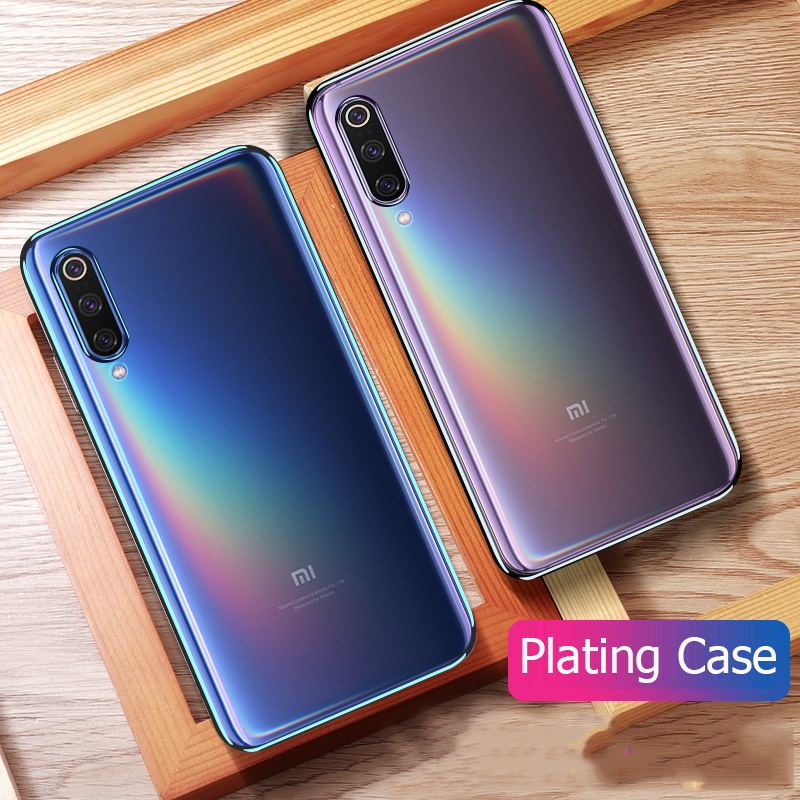<font><b>For</b></font> <font><b>Xiaomi</b></font> <font><b>Mi</b></font> <font><b>9</b></font> <font><b>Case</b></font> Luxury Laser Plating TPU Cover <font><b>For</b></font> <font><b>Xiaomi</b></font> Mi9 Xiomi <font><b>Mi</b></font> <font><b>9</b></font> <font><b>SE</b></font> Lite <font><b>Soft</b></font> Transparent <font><b>Silicone</b></font> <font><b>Shockproof</b></font> Coque image