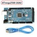 Placa De Controle Com Cabo USB Para Arduino Mega2560 R3 ATmega2560-16AU pcb