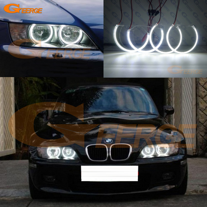 For BMW Z3 1999-2002 HALOGEN headlight Excellent angel eyes Ultra bright illumination smd led Angel Eyes kit DRL неоновые кольца angel eyes duntuo smd 60 2
