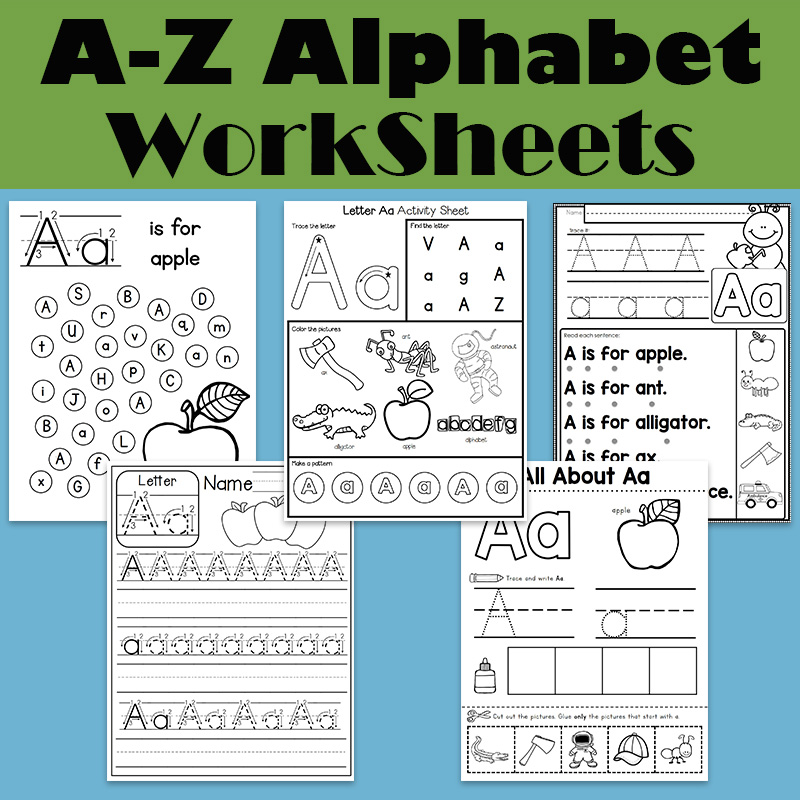 Alphabet Worksheets 26 Letters From-A-to-Z Practice Paper Preschool English Homework Workbook Coloring Alphabet Books For Kids