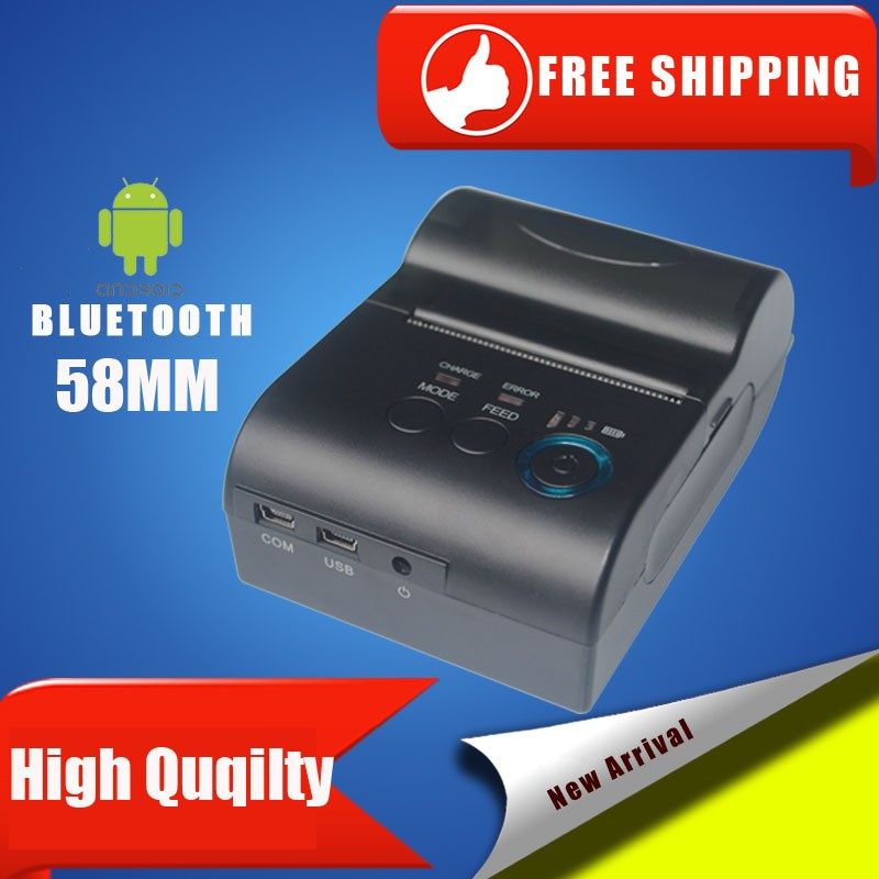 ФОТО 10pcs lot 58mm Bluetooth Wireless Mobile Thermal Receipt POS Printer For Android Windows PC_DHL