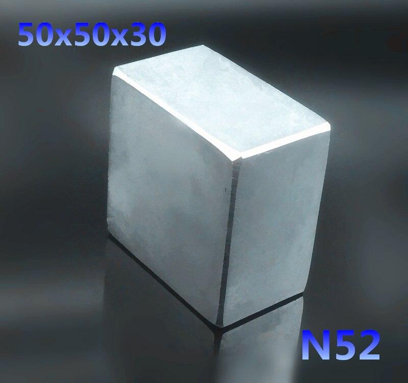1 шт. N52 50x50x30 мм Блок Сильный редкоземельных Неодимовый магнит s 50*50*30 постоянный супер сильный неодимовый магнит