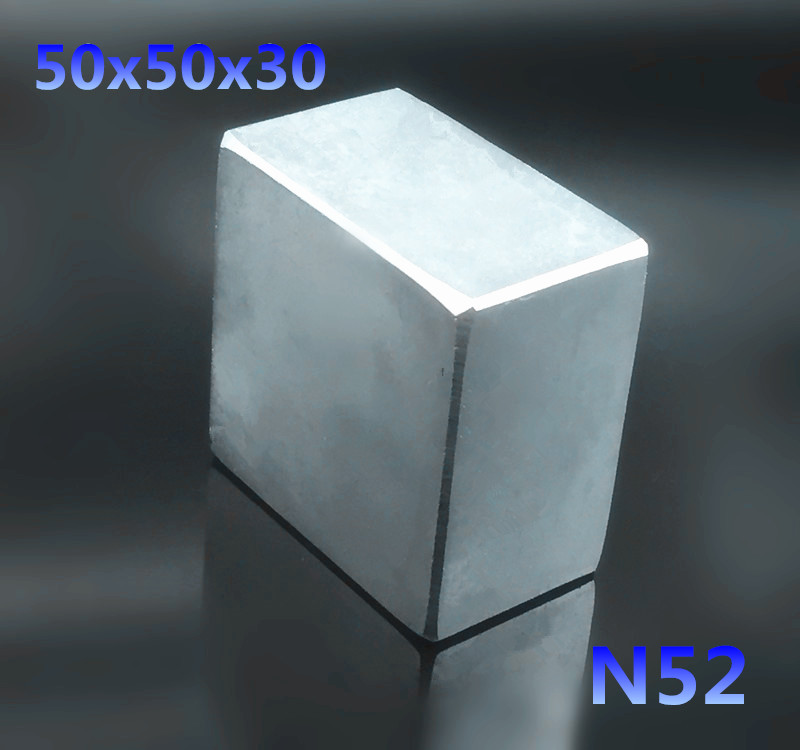 1 pièces N52 50x50x30mm bloc forte terre Rare néodyme aimants 50*50*30mm Permanent super puissant néodyme aimant