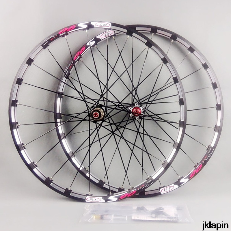 MTB mountain bike bicycle Milling <font><b>RT</b></font> front 2 rear 5 bearing japan hub super smooth wheel <font><b>wheelset</b></font> Rim Rims image