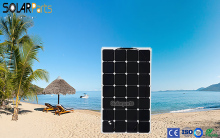 100W flexible solar panel for solar powered fishing boats backside connection for 12V solar panel module battery solar charger.
