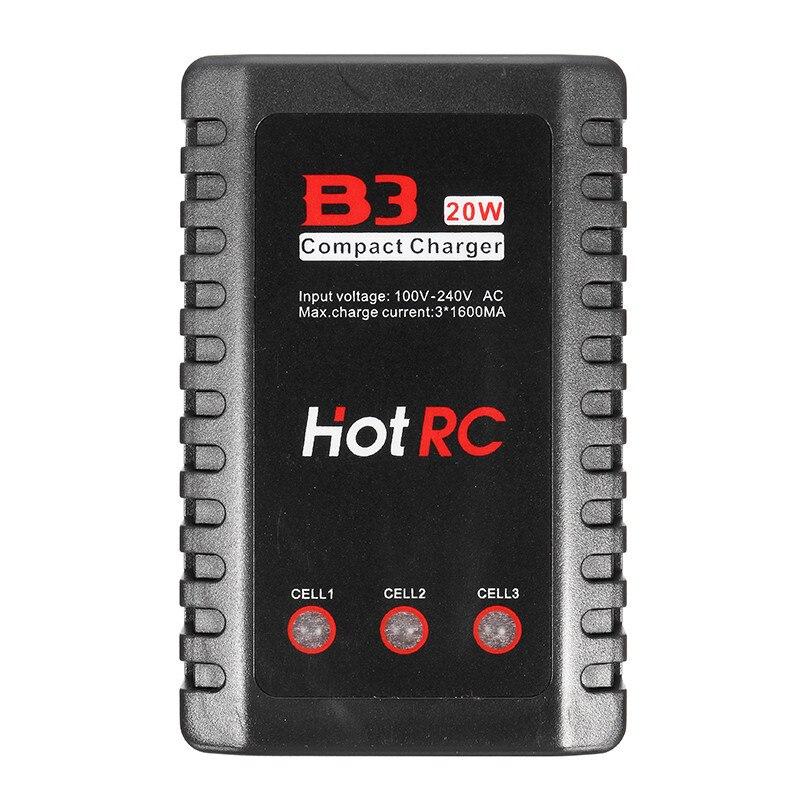 Hotrc B3 20 Вт 1.6a AC Батарея баланс усовершенствовать 2 S-3 S Lipo Батарея для RC FPV-системы гонки Камера Drone запасной Запчасти Интимные аксессуары