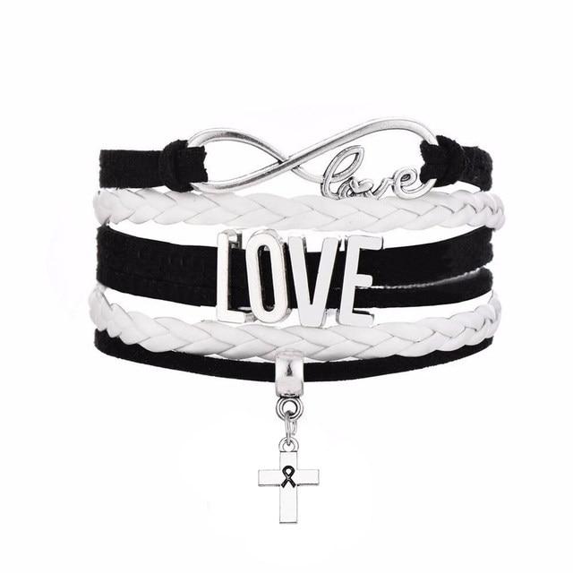 Online Shop Skyrim Multi Layer Braided Bracelet Infinity Love