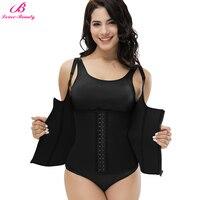 Lover Beauty Adjustable Shoulder Strap Waist Trainer Vest Corset Women Zipper Hook Body Shaper Slim Waist