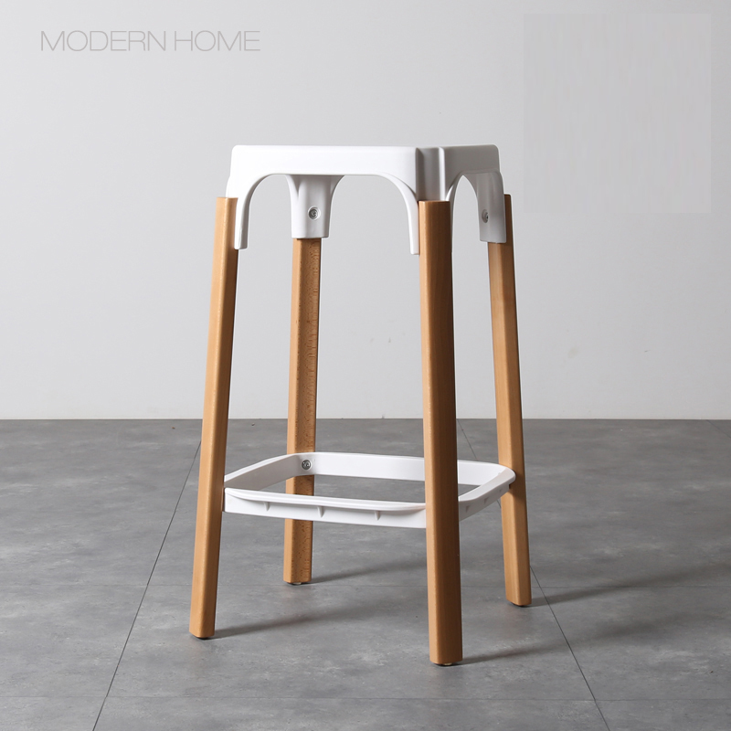 Fine Us 199 0 68Cm Seat Height Replica Modern Design Steelwood Bar Stool Solid Wooden Leg Metal Steel Base Bar Chair Kitchen Counter Stool In Bar Stools Creativecarmelina Interior Chair Design Creativecarmelinacom