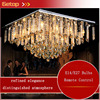 ZX Modern Luxury K9 Crystal Remote Control Ceiling Lamp Square LED Lights Fixture For Sitting Room