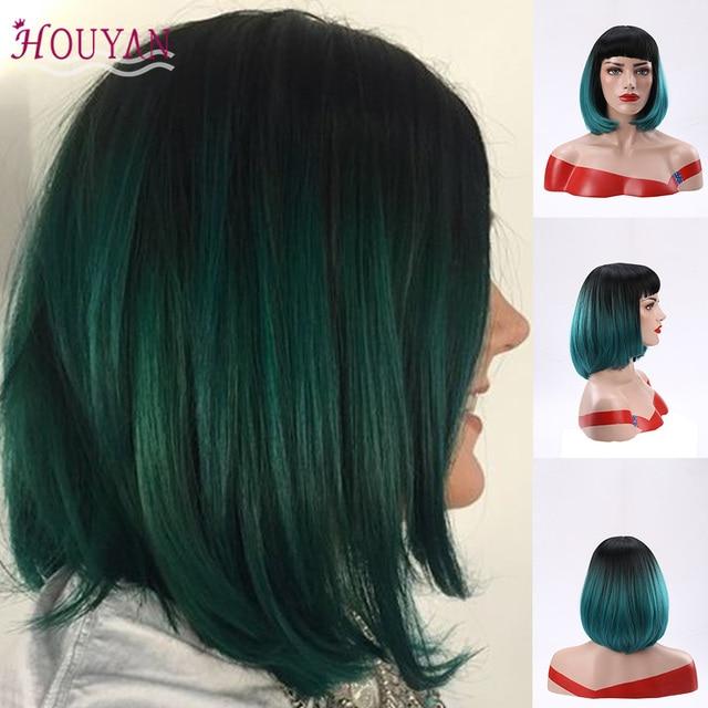 Pelucas de pelo humano de encaje corto de belleza de tejido HOUYAN accesorios para el cabello Peluca de Bob con pelo brasileño de línea de pelo Pre desplumado
