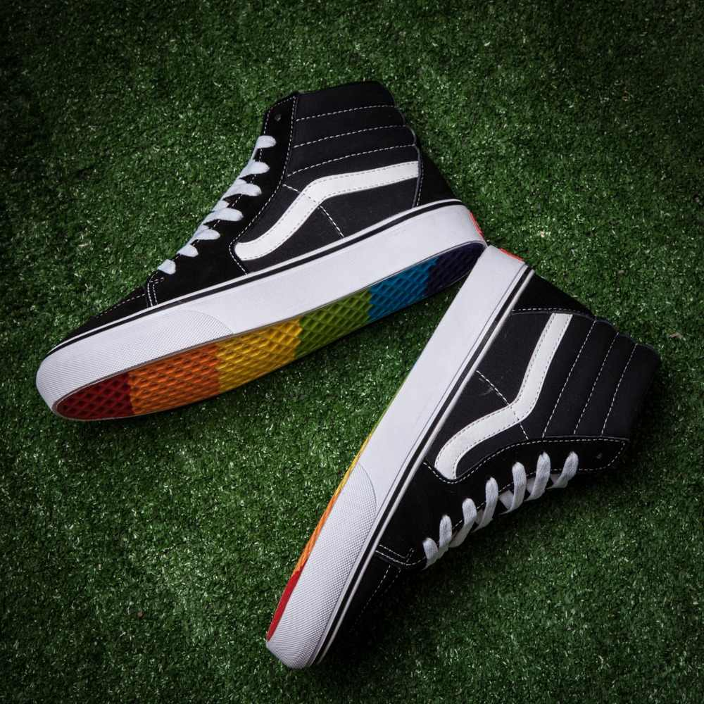 0e5c11baa2 ... Vans Sk8-Hi classic Mens Rainbow at the end of the classic high canvas  shoes ...